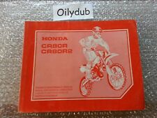 Genuine Honda CR80R R2 Motocross 1999 Service Owners Workshop Manual 66GBF660