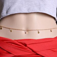 Fashion Women Gold Plated Body Chain Waist Belly Bikini Beach Necklace Jewelry