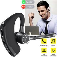 Women Men Bluetooth Headset Headphone Stereo Wireless Business Driver Earbud Mic