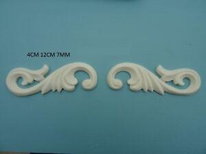 Decorative acanthus scrolls resin furniture mouldings appliques onlays B92