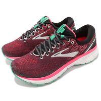 Brooks Ghost 11 D WIDE Black Pink Aqua Women Running Shoes Sneakers 120277 1D