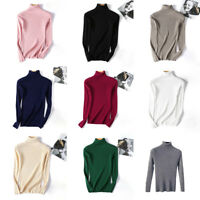 Women Winter Turtleneck Sweater Soft Warm High Elastic Pullover Sweater Fashion