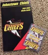 Lot 2 Johnstown Chiefs 2001-02 ECHL Minor League Hockey Media Guide & Schedule