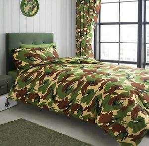 Single Bed Camouflage Duvet Cover Bedding Set Army Green Pillowcase Bed Set