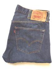 LEVIS 501 JEANS MENS STRAIGHT LEG HIGH WAISTED W38 L30 DARK BLUE LEVH933 #