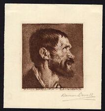 21)Nr.175 - EXLIBRIS  - Ramon Borrell -Selbstbildnis / Self-portrait
