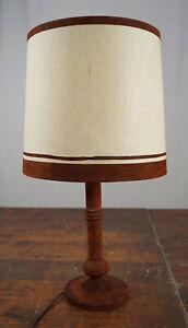 Table Lamp Floor Lamp Leather Vintage 60s mid-Century Lamp Retro Light 60er