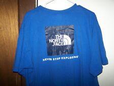 THE NORTH FACE Logo Blue T Shirt Men's XXL NEVER STOP EXPLORING
