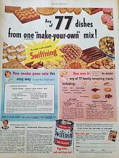 1950 Swiftning Make Your Own Mix Recipe Baking Cake Food Original Ad