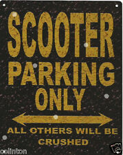 SCOOTER PARKING METAL SIGN RUSTIC VINTAGE STYLE6x8in 20x15cm garageART