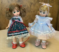 Two Darling Madame Alexander Girls In Their Summer Dresses!