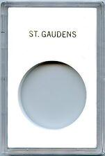 """Capital Plastics CAPS Single Coin Holder """"St. Gaudens"""" White"""