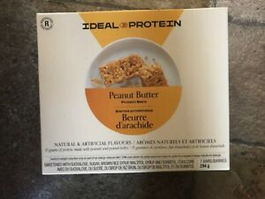 Ideal Protein Peanut butter bars 7 bars 15g protein per bar
