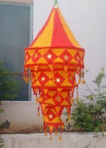 4 Pcs Wholesale Lot of Decorative Cotton Lampshade Lantern Collapsible Handcraft