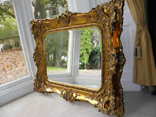 Large Rococo reproduction antique Wall hall mirror. Fabulous ornate & Opulent 1m