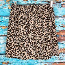 Mi ami Medium Skirt Elastic Waist Animal Print Black Tan