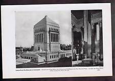 Indiana World War Memorial in Indianapolis -Shrine Room 1937 Lithograph