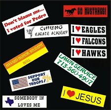 4  Personalized Bumper Stickers Decals