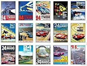 Le Mans F1 Grand Prix Early Posters Trading Card Set FREE UK POSTAGE