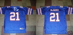 2003 Reebok On Field WILLIS McGAHEE BUFFALO BILLS Mens NFL Team Replica JERSEY L