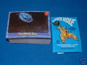 TOPPS BLACK HOLE TRADING CARDS  SET + WAX PACK