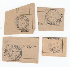 WW1 British Army Post Office Part Bundle Labels FPO Western Front Cut Outs