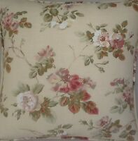 A 16 Inch Cushion Cover In Laura Ashley Angelica Natural Fabric