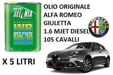 5 LT OLIO MOTORE ORIGINALE SELENIA 5W30 ALFA ROMEO GIULIETTA 1.6 JTDM 105 CV
