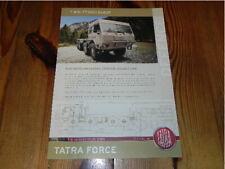 TATRA Force Truck T815-7T3RC1 8x81R Militär Military Vehicles brochure prospekt