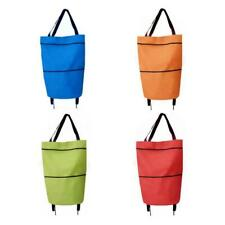 Portable Foldable Shopping Trolley Bag Cart Waterproof Oxford Tote Basket Bags