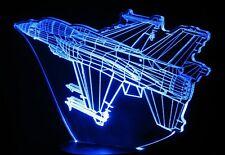 F-16 Jet Fighter 3-D Optical Illusion LED Desk, Table, Night Lamp