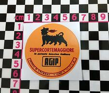 Adesivo anni'60 italiano a benzina-FIAT 500 600 126 LANCIA BETA GIULIETTA ALFA ABARTH