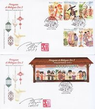 Malaysia 2019 Festivals FDCs with autograph
