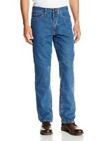 Lee Mens Jeans Blue Stonewash Regular Fit Straight Leg Denim 32 38