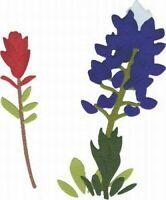 """Blue Bonnet Flower Quickutz 4x4"""" Thin Metal Die C-0172-S-REV NEW!"""