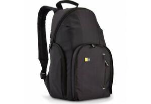 Case Logic TBC-411  Compact DSLR ILCE Camera Backpack in Black  (UK Stock)  BNIP