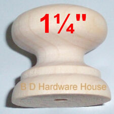"1 ¼"" -  British Style Wood Cabinet Knob Pulls / Drawer Knobs with Screw"