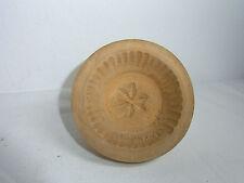 Vintage German Carved Wood Round Butter Mold Star #I1