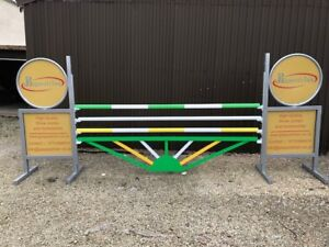 Green, White and Yellow Sunrise Aluminium Show jump Fillers-For Showjumping