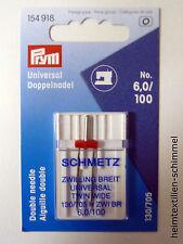 PRYM Schmetz Zwillingsnadel 6,0 / 100 130/705 H Doppel Nähmaschinennadel 154918
