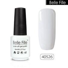 BELLE FILLE Candy Color Nail Gel Soak off UV LED Polish Base Top Coat Manicure
