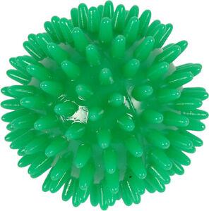 x2 7cm GREEN Spikey Massage Ball - Yoga, Stress, Pilates, Reflexology Trigger