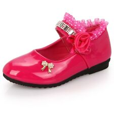 Fashion Children Girls Party Wedding Shoes Girls High Heels Dress Shoes Leather