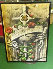 Whitesnake Poster Alt Metal Rare Oop 2007 British Rock Legends
