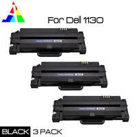 3 PK Black Toner Cartridge for Dell 1130 1133 1135n Laser Printer 2500 PG Yield
