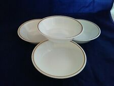 3-Corelle Indian Summer 5 3/8 Inch Berry or Fruit Bowls Brown Rust Stripe EUC