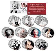 MARILYN MONROE * MOVIES * Colorized JFK Half Dollar U.S. 10-Coin Set *LICENSED*