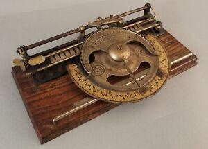 19thC Antique Patented 1886, Nickel & Iron, The World Typewriter, NO RESERVE