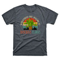 Introverted But Willing To Discuss Plants Flower Vintage Retro Men's Tee T-shirt