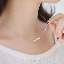 Miabel Halskette Kette Sterne Galaxie Strass 925 Sterling Silber Filigran Boho